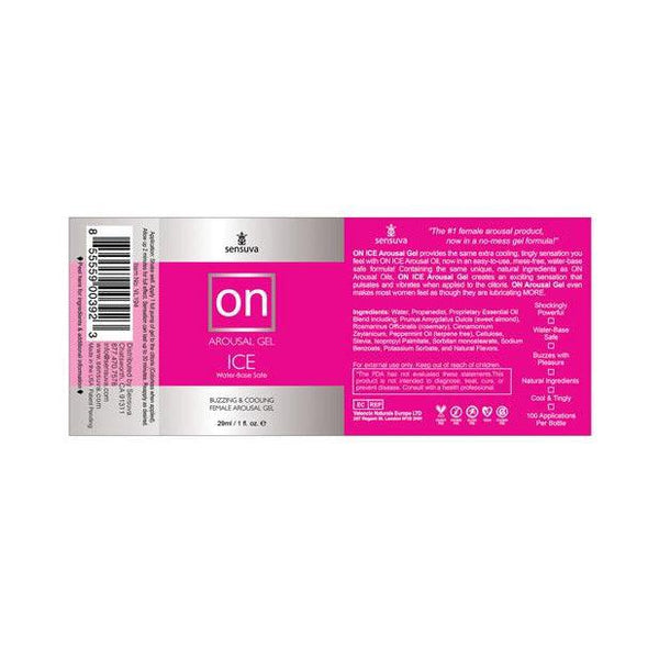 ON Arousal Ice Gel 1 Oz Gel 1 Oz-LOT-The Love Zone