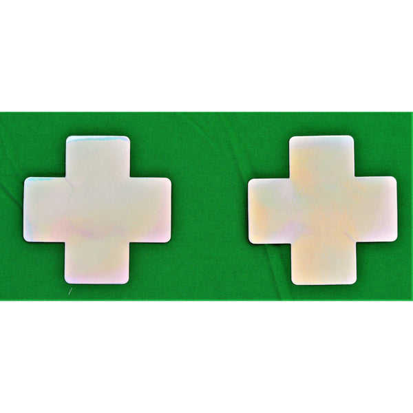 Crosses Hologram Slv PU Pasties 5pk-ACCES-The Love Zone