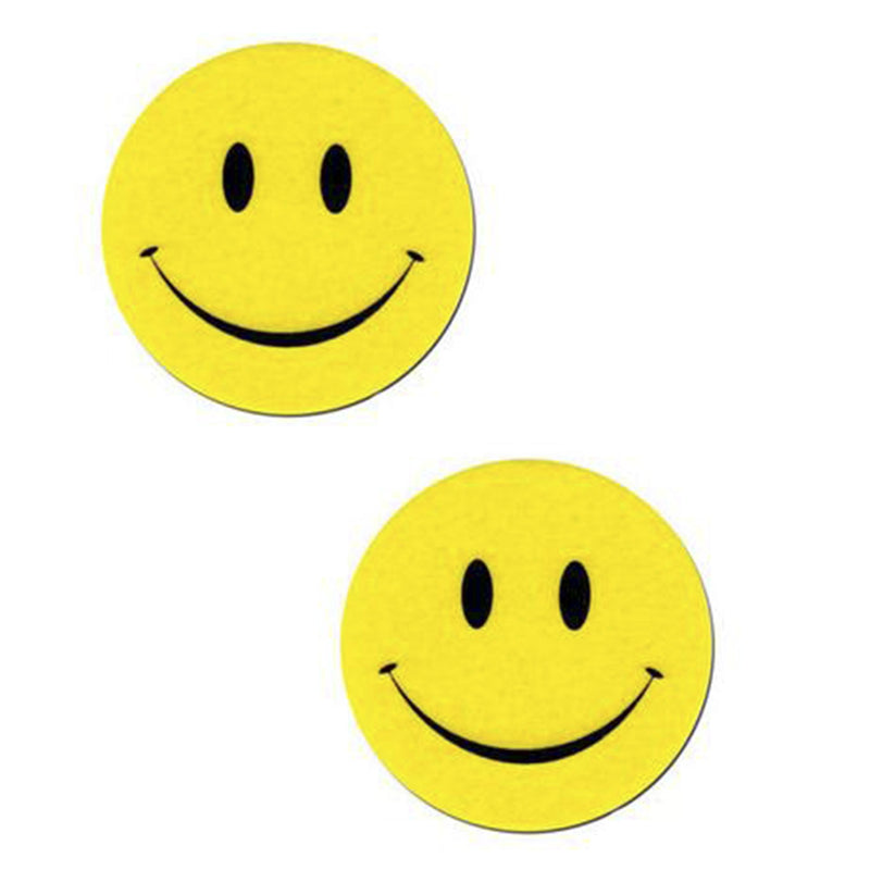 Pasties Happy Smiley Emoji Shaped Nipple Cover Pasties 5 pair-Nipple Covers-The Love Zone