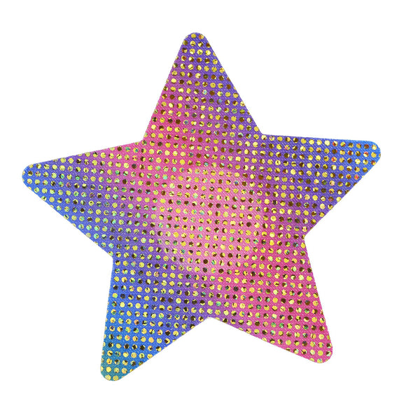 Pasties Glitter Rainbow Star Nipple Covers 5 Pair-ACCES-The Love Zone