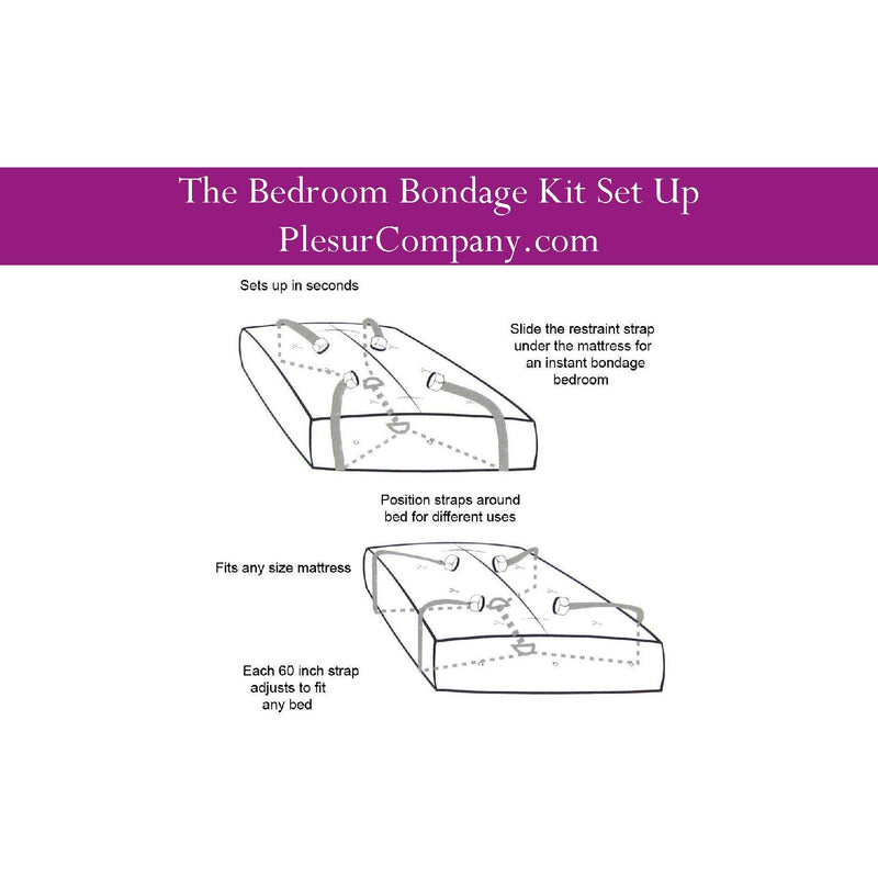 Bondage Kit - Beginner's Bedroom Bondage Kit - No Posts Needed!-BON-The Love Zone