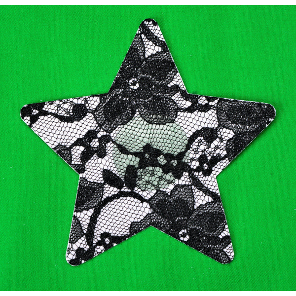 Star Black Lace 5 pack Nipple covers Paistees-ACCES-The Love Zone