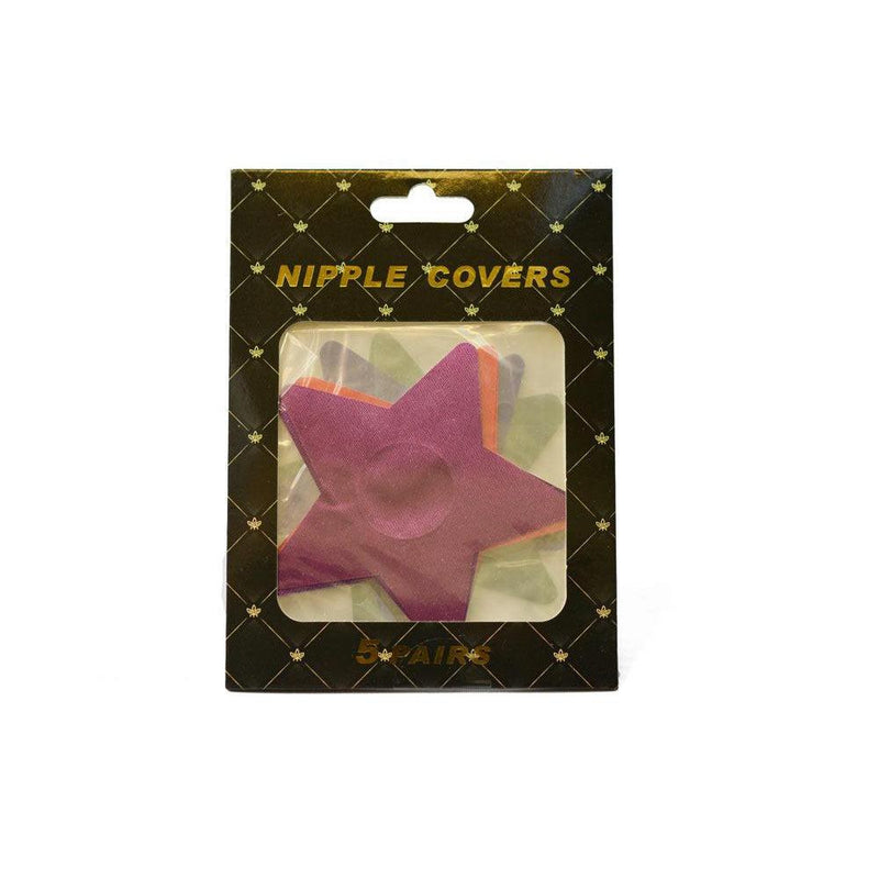 Pasties Assorted Stars pack 5 pair Nipple covers-ACCES-The Love Zone