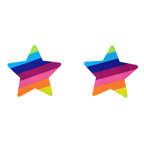 Pasties Rainbow Star Shaped Nipple Covers 5 Pair-ACCES-The Love Zone
