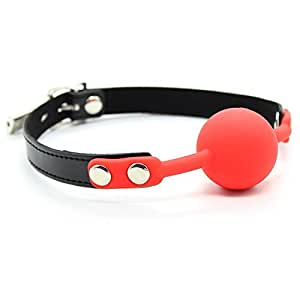 Ball Gag - Silicone Red Ball Gag With Locking Buckle-FBOND-The Love Zone
