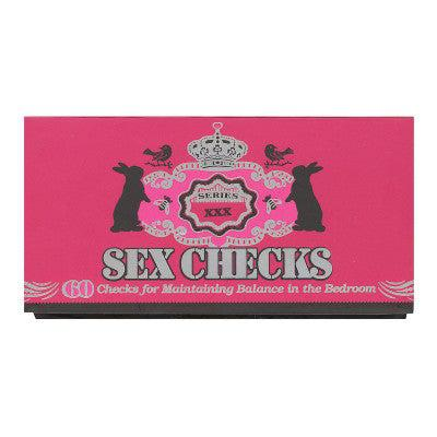 Sex Checks 60 Checks for Maintaining Balance-BOOK-The Love Zone