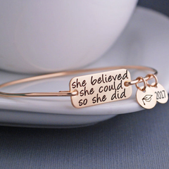 She Believed Graduation 2017 Charm Bangle