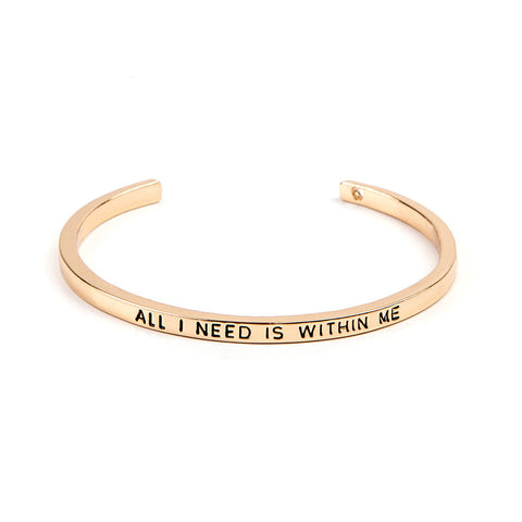 All I Need Is Within Me Cuff Bangle - Florence Scovel - 2