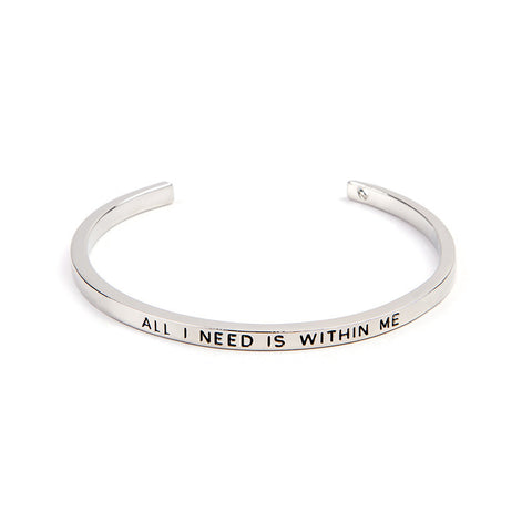 All I Need Is Within Me Cuff Bangle - Florence Scovel - 3