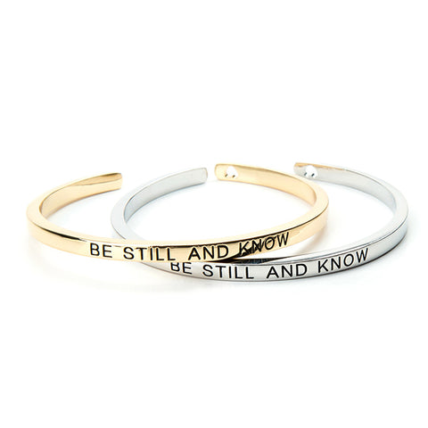 Be Still and Know Cuff Bangle