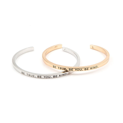 Be True Be You Be Kind Cuff Bangle - Florence Scovel - 1