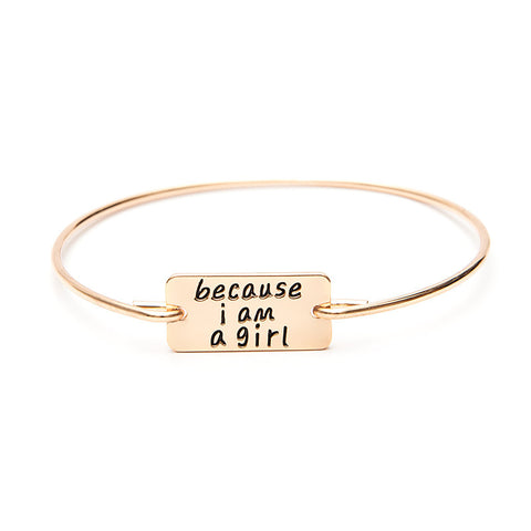 Because I am A Girl Bangle - Ashley Jewels - 4