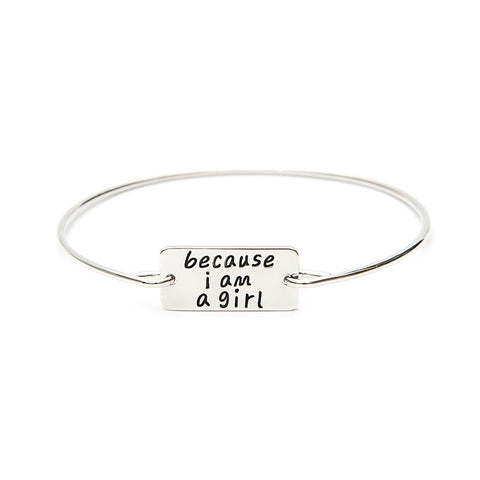 Because I am A Girl Bangle - Ashley Jewels - 5