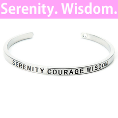 Serenity, Courage and Wisdom Cuff Bangle