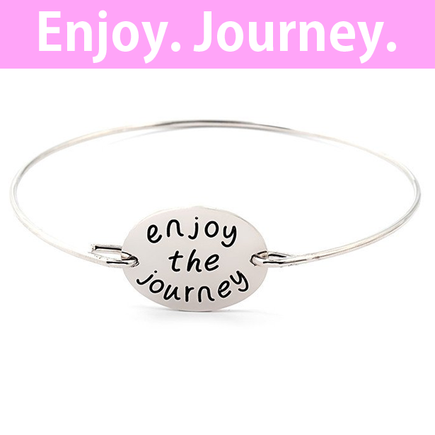 Enjoy The Journey Stamped Bangle