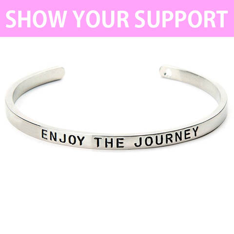 Enjoy The Journey Cuff Bangle
