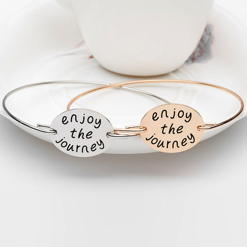 Enjoy The Journey Bangle - Ashley Jewels - 1