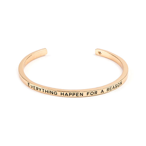 Everything Happen For A Reason Cuff Bangle - Florence Scovel - 2
