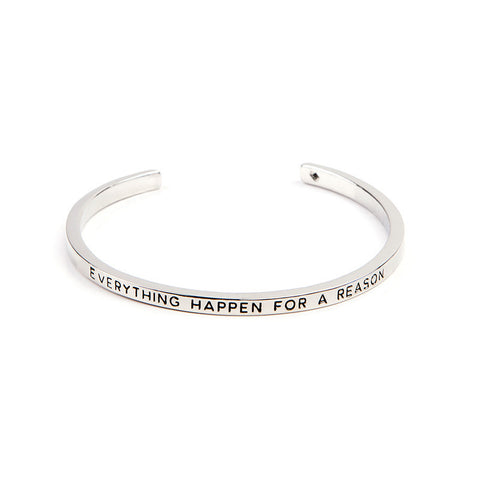 Everything Happen For A Reason Cuff Bangle - Florence Scovel - 3