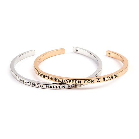 Everything Happen For A Reason Cuff Bangle - Florence Scovel - 1