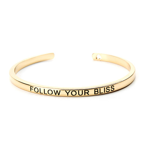 Follow Your Bliss Cuff Bangle - Ashley Jewels - 2