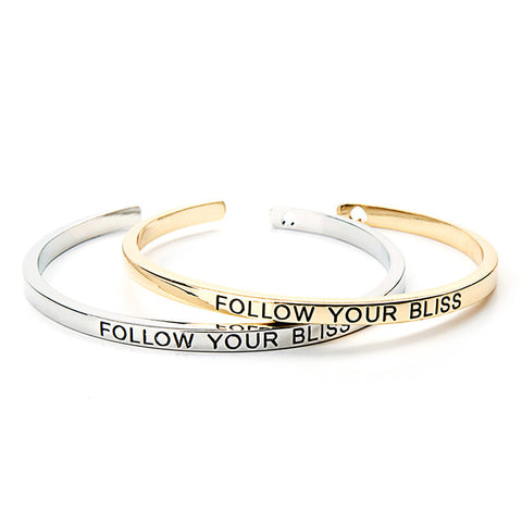Follow Your Bliss Cuff Bangle - Ashley Jewels - 1