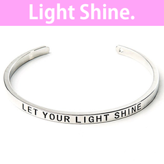 Let Your Light Shine Cuff Bangle