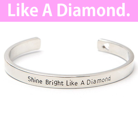 Shine Bright Like a Diamond Cuff Bangle