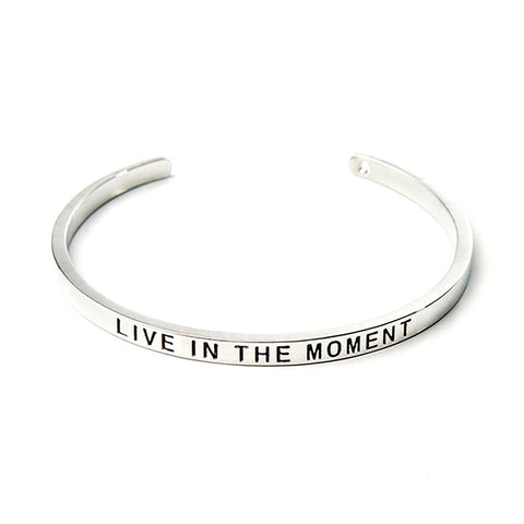 Live In The Moment Cuff Bangle