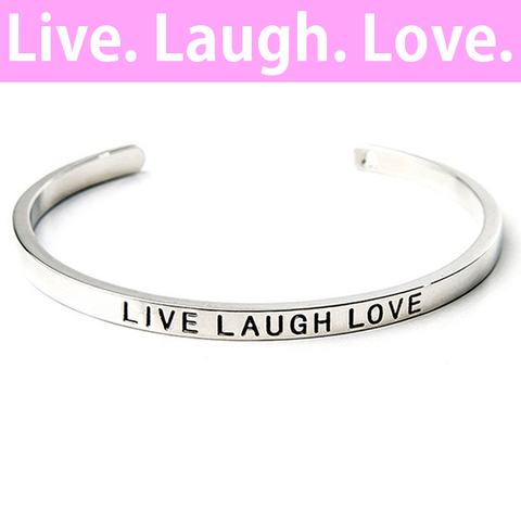 Live, Laugh, Love Cuff Bangle