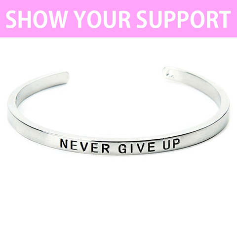 Never Give Up Cuff Bangle