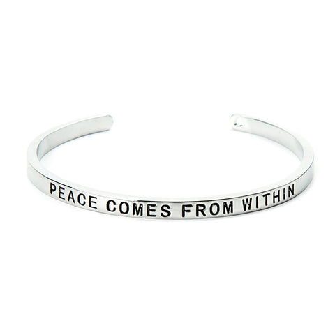 Peace Comes From Within Cuff Bangle