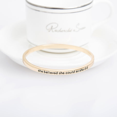 She Believed She Could So She Did Simple Bangle - Florence Scovel - 5