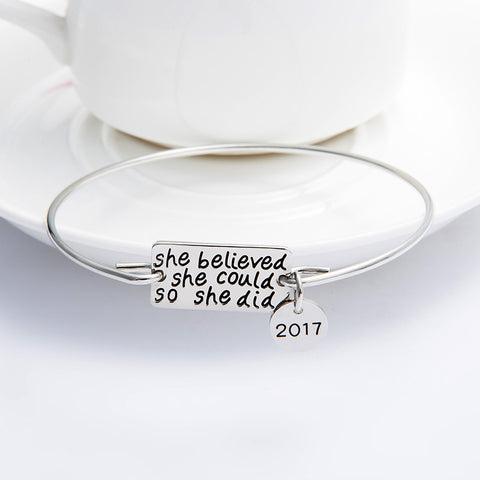 She Believed with 2017 Charm Bangle