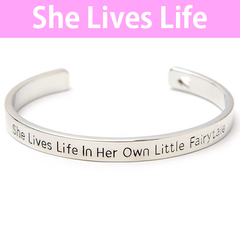She Lives in Her Own Fairytale Cuff Bangle