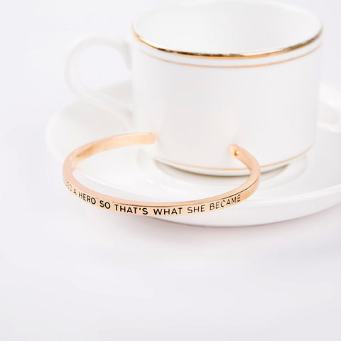 She Needed A Hero Cuff Bangle - Florence Scovel - 4