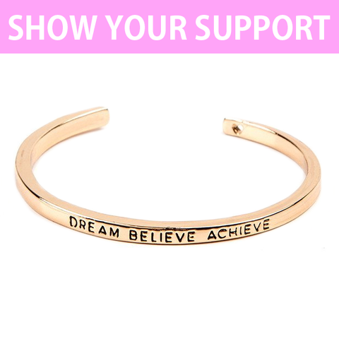Dream Believe Achieve Cuff Bangle