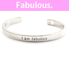 I Am Fabulous Cuff Bangle