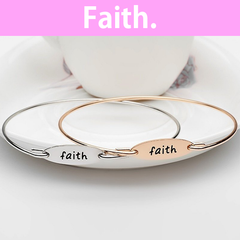 Faith Stamped Bangle