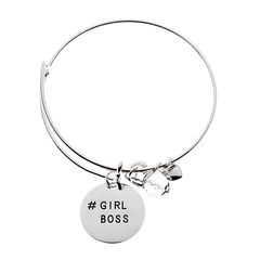 #Girlboss Charm Bangle