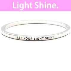 Let Your Light Shine Simple Bangle