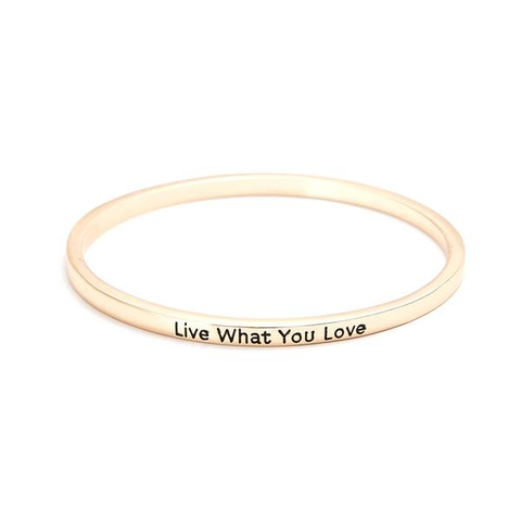 Live What You Love Bangle - Florence Scovel - 5