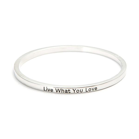 Live What You Love Simple Bangle