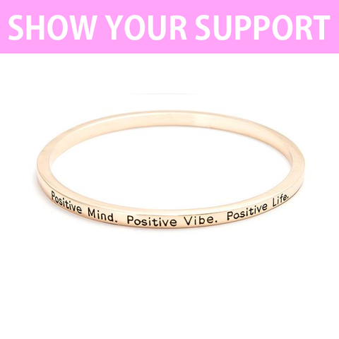 Positive Mind Simple Bangle