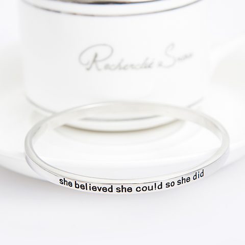 She Believed She Could So She Did Simple Bangle - Florence Scovel - 6