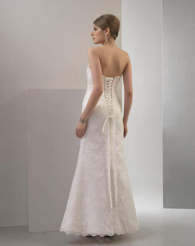 Abigail wedding dress back view