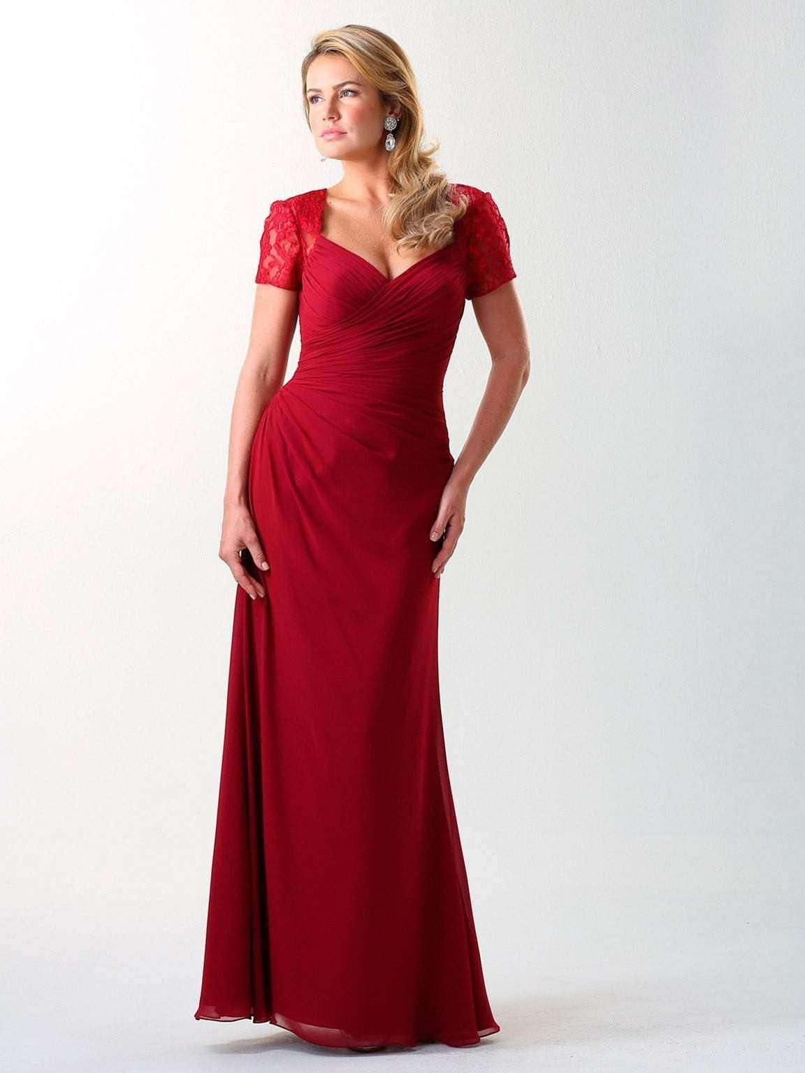 UK18 BURGUNDY - REBECCA - SALE - Adore Bridal and Occasion Wear