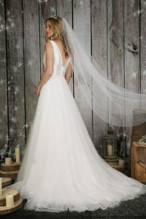 "GIGI - GLITTER TULLE  VEIL - 43"" - Adore Bridal and Occasion Wear"