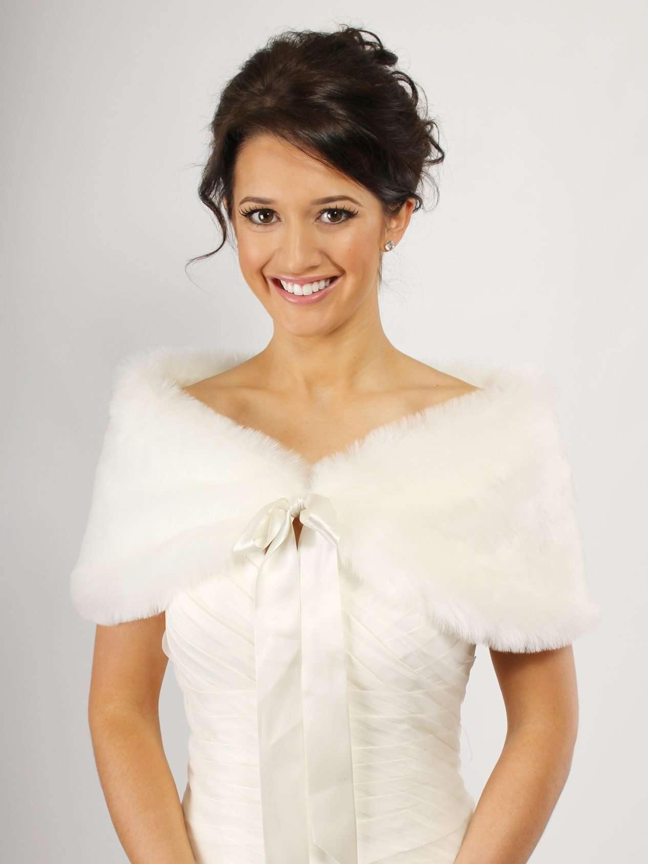 ETHNA Faux Fur Wrap - Adore Bridal and Occasion Wear