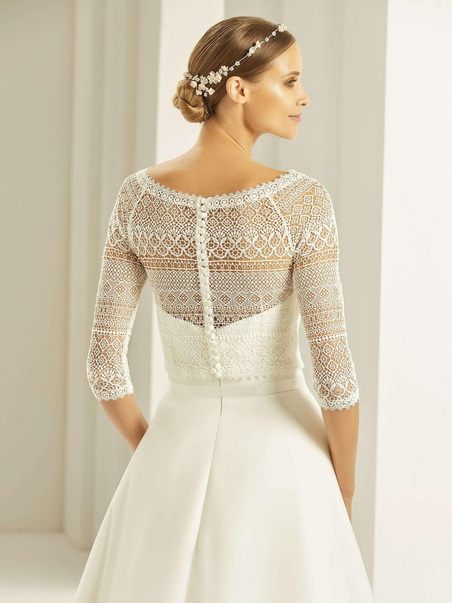 Elle Lace Jacket - Adore Bridal and Occasion Wear